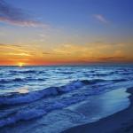 Puesta de sol playa en Conil